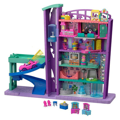 Polly Pocket™ Mega Mall with 6 Floors, Vehicle, Elevator & Micro Dolls