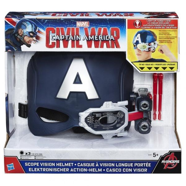 Marvel Civil War Captain America Scope Vision Helmet