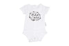 Schnooky Pie Cotton WILD CHILD MONOCHROME babygrow - WHITE