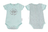 Schnooky Pie Cotton babygrow with Hedgehog and chevron back - MINT