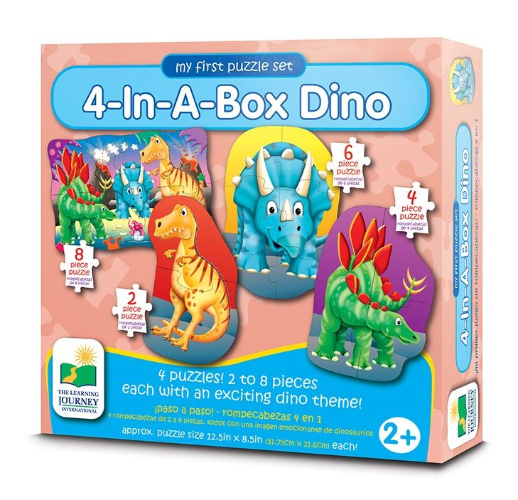 The Learning Journey My First Puzzle Sets 4-In A Box Dino