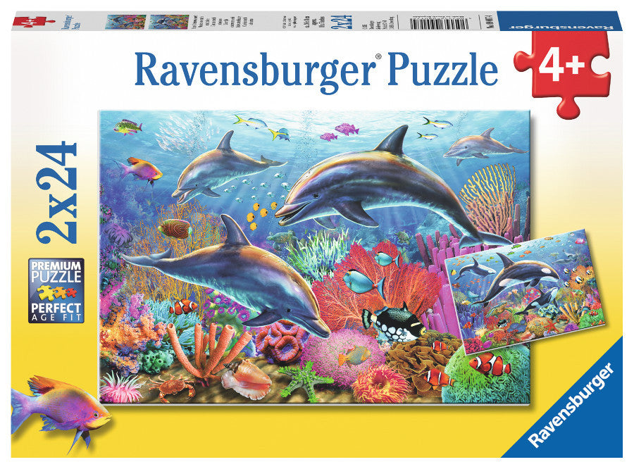 Ravensburger 2x 24 Puzzle-Underwater Beauty