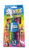 Scentos Scented Colored Pencils 12Pack