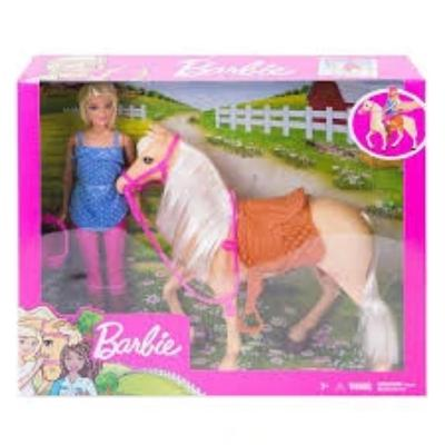 Barbie Basic Horse and Doll Playset - Blonde