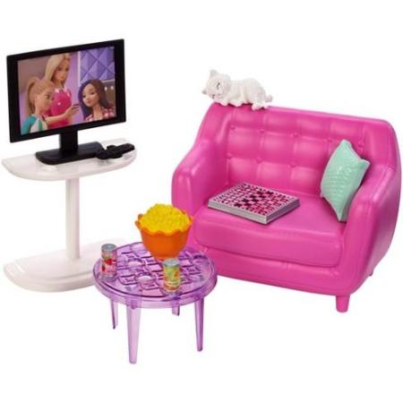 Barbie Indoor Furniture And Accessories Playset Asst