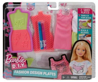 Barbie DIY Fashion Design Plates