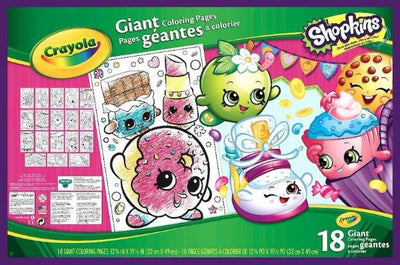 CRAYOLA SHOPKINS GIANT COLORING PAGES