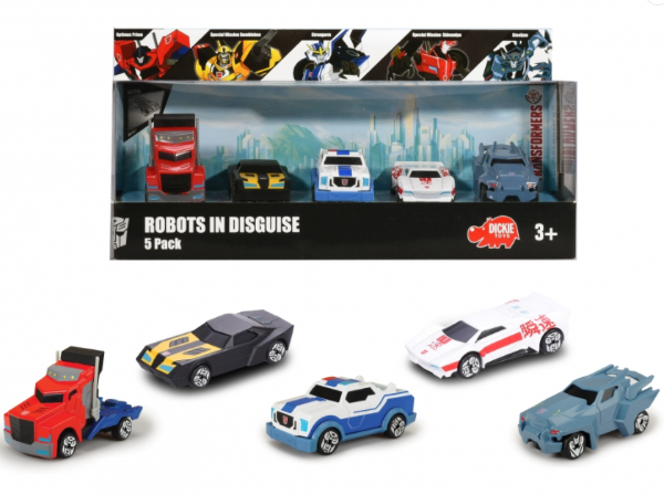 Transformers Robots in Disguise 5 pack, die cast cars