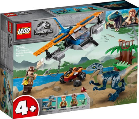 Lego Jurassic World Velociraptor Biplane Rescue Mission 75942