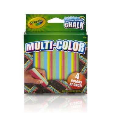 Crayola Washable Sidewalk Chalk-Multi-Color