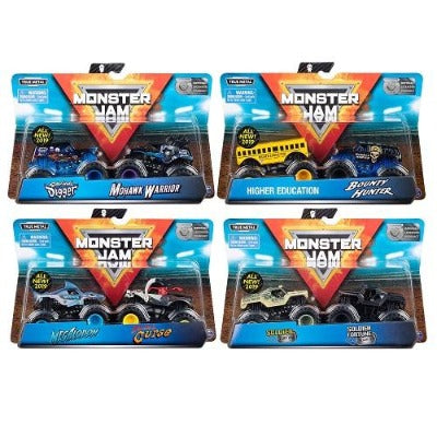 Monster Jam 1:64 Scale, 2 Pack