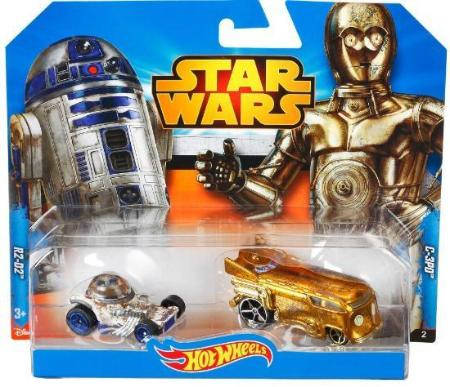 Hot Wheels Star Wars Die Cast Character Cars 2 Pack