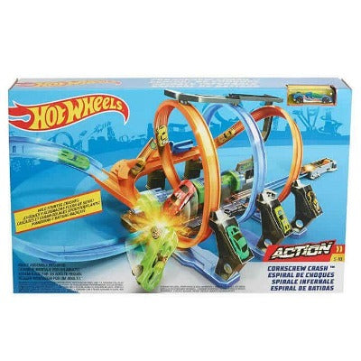 Hot Wheels® Corkscrew Crash™ Track Set
