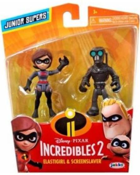 Disney Pixar Incredibles 2 Precool 2PK Figures Asst