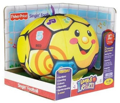 FISHER PRICE LAUGH & LEARN SINGIN' FOOTBALL MUSICAL TOY ...