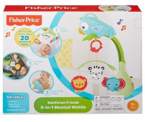 Fisher Price-Rainforest Friends 3-In-1 Musical Mobile