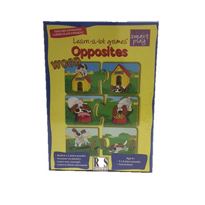Learn-a-lot games Wood Puzzle - Opposites