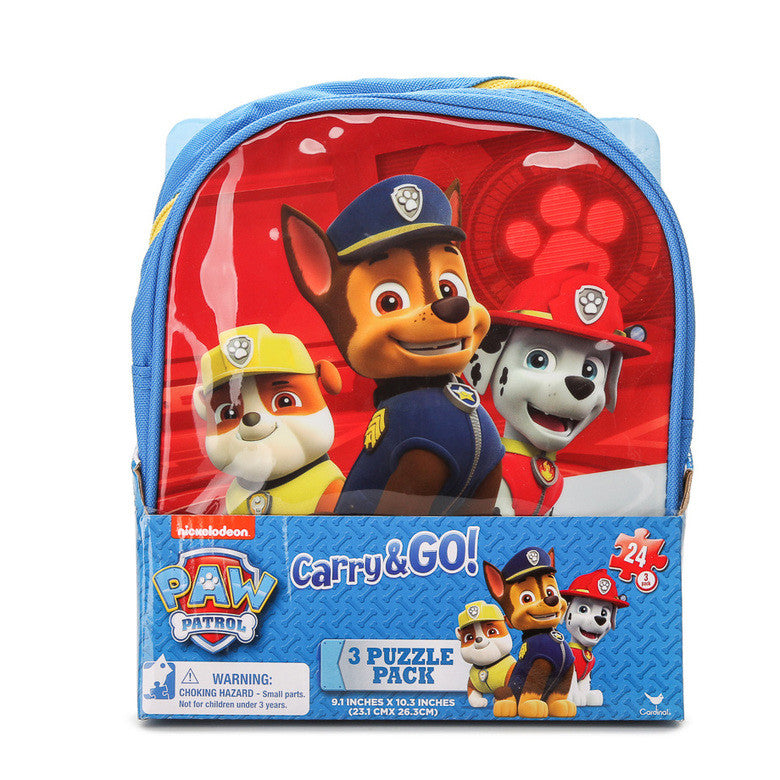 Paw Patrol 3 Puzzle In A  Backpack