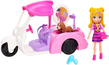 Polly Pocket Vehicle and Pet Collection Asst