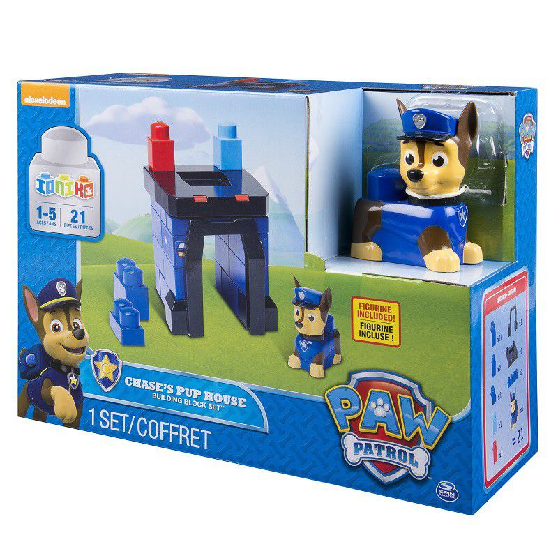 Paw Patrol Chase's Pup House Building Block Set