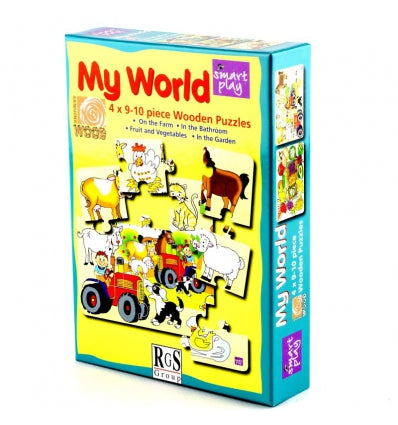 SMART PLAY- MY WORLD 9-10PC  PUZZLE SET (ON THE FARM)