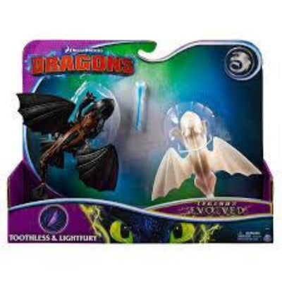 DreamWorks Dragons Legends Evolved, Toothless and Lightfury -Pack
