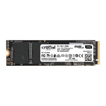 Crucial 500GB P1 NVMe M.2 Solid State Drive