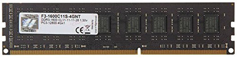 G.SKILL Value Series 4GB DDR3 1600MHz CL11 Desktop Memory (F3-1600C11S-4GNT)