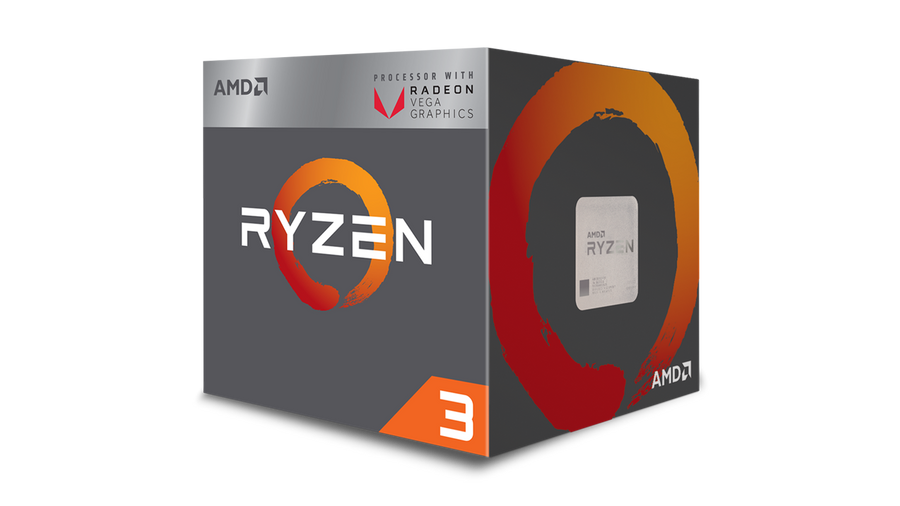 AMD Ryzen 3 2200G 4 Cores 3.5GHz Base/3.7Ghz Boost AM4 CPU