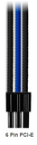 GS Modz 6 Pin Custom Sleeved Extension Cable - Blue/Black/Grey