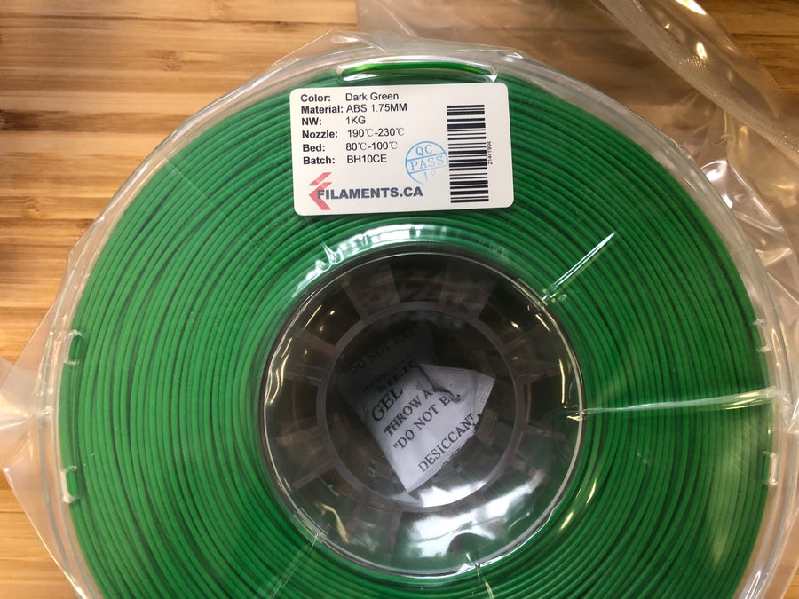 Dark Green ABS 1.75MM 1KG Roll