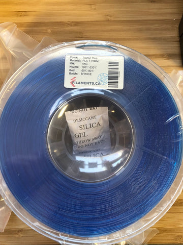 Transparent Blue PLA 1.7MM 1KG Roll