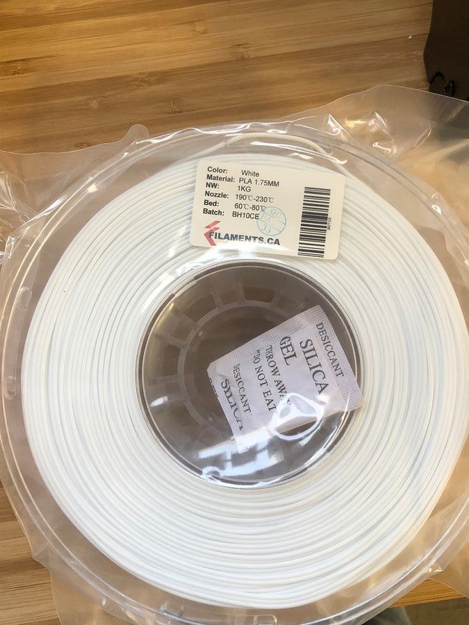 White PLA 1.75MM 1KG Roll
