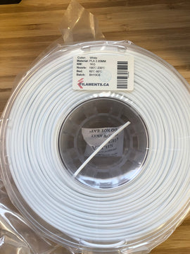 White PLA 2.85MM 1KG Roll