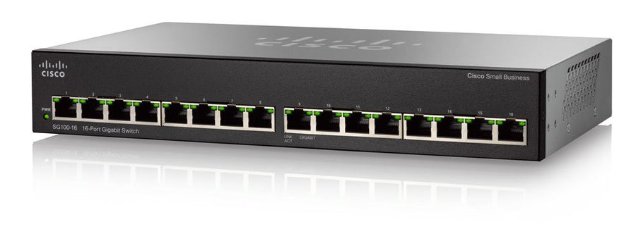 CIsco SG100-16 16 Port Gigabit Switch