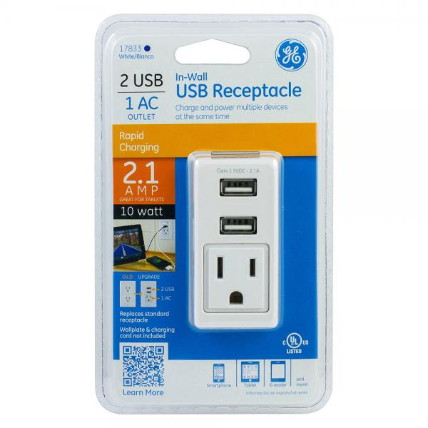 GE In-Wall USB Receptacle