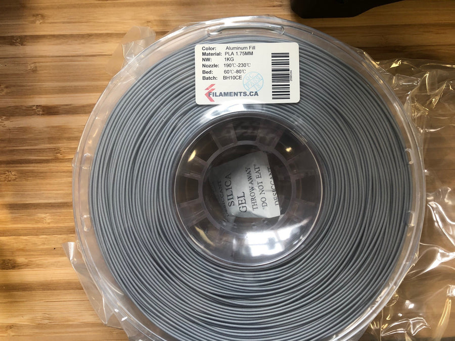 Aluminium Fill PLA 1.75MM 1KG Roll