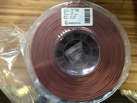 Pearl Copper PLA 1.75MM 1KG Roll