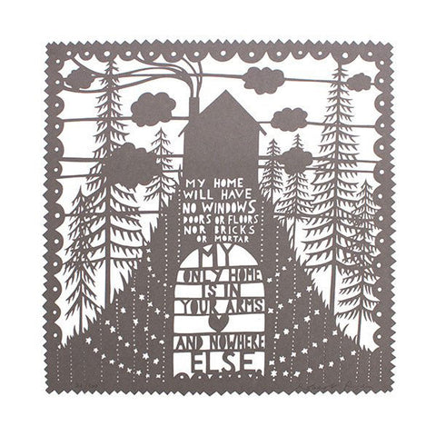 Rob Ryan Laser Cut My Home Grey