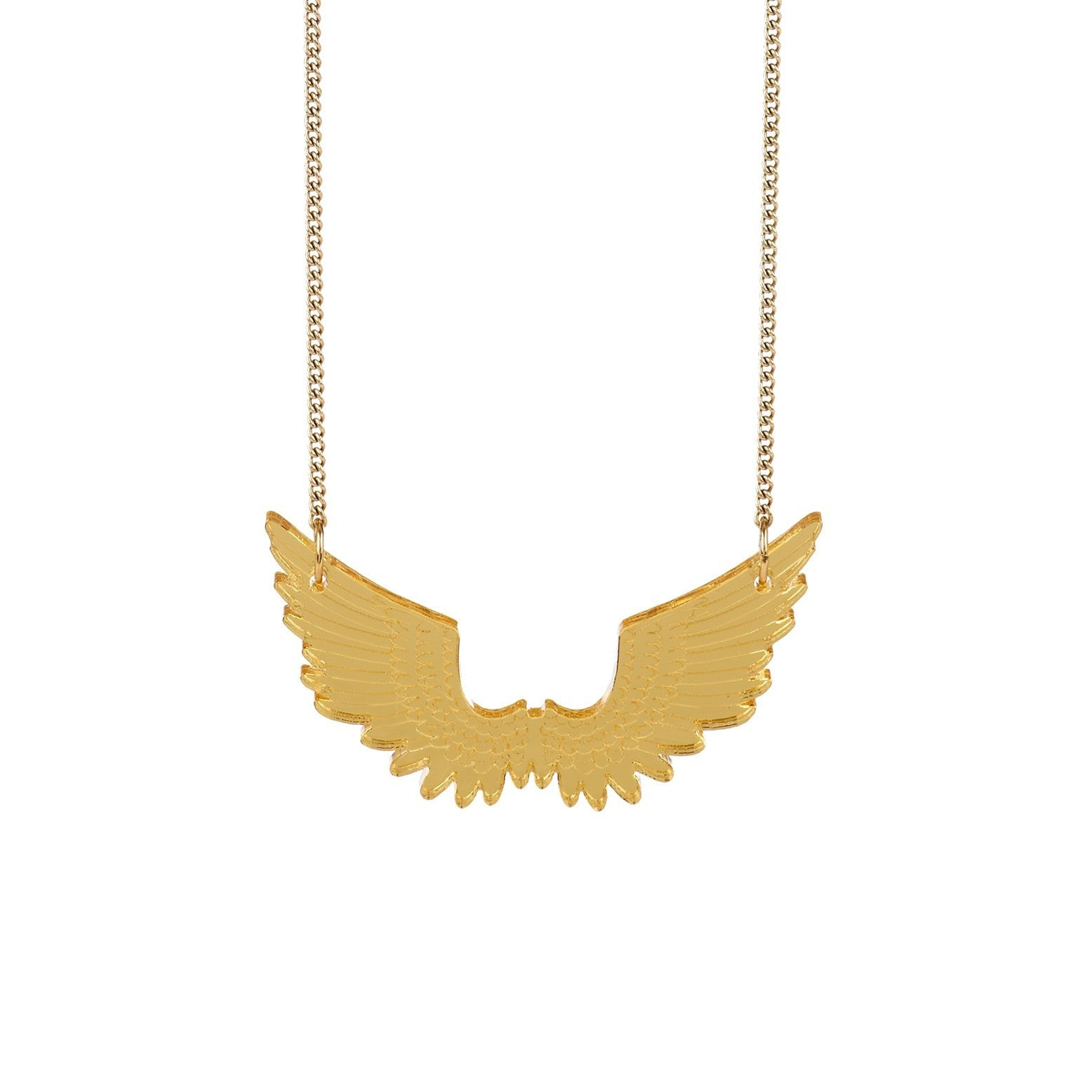 tatty devine gold pegasus mini necklace baltic shop