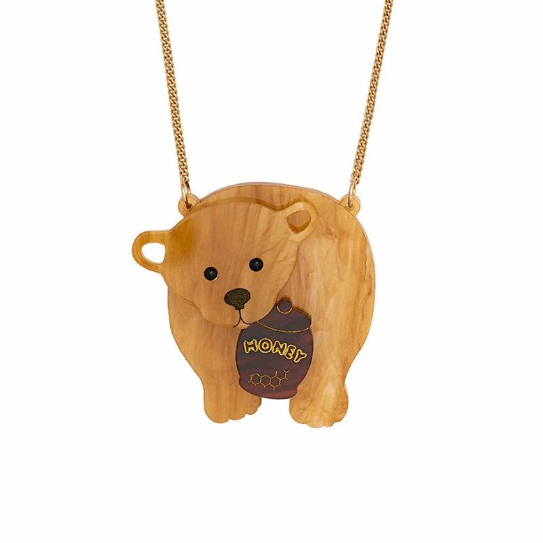 tatty devine honey bear necklace baltic shop