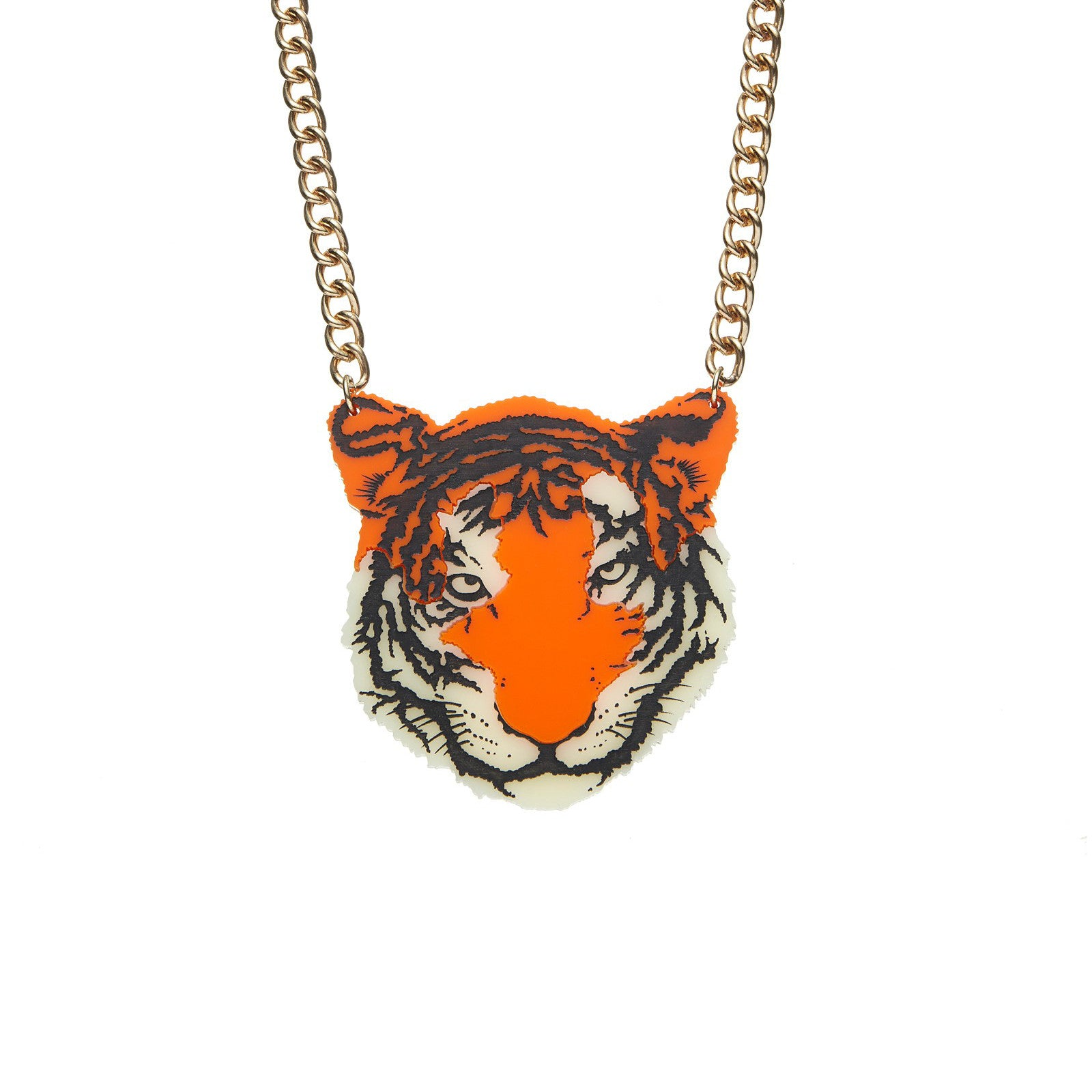 tatty devine orange tiger necklace baltic shop