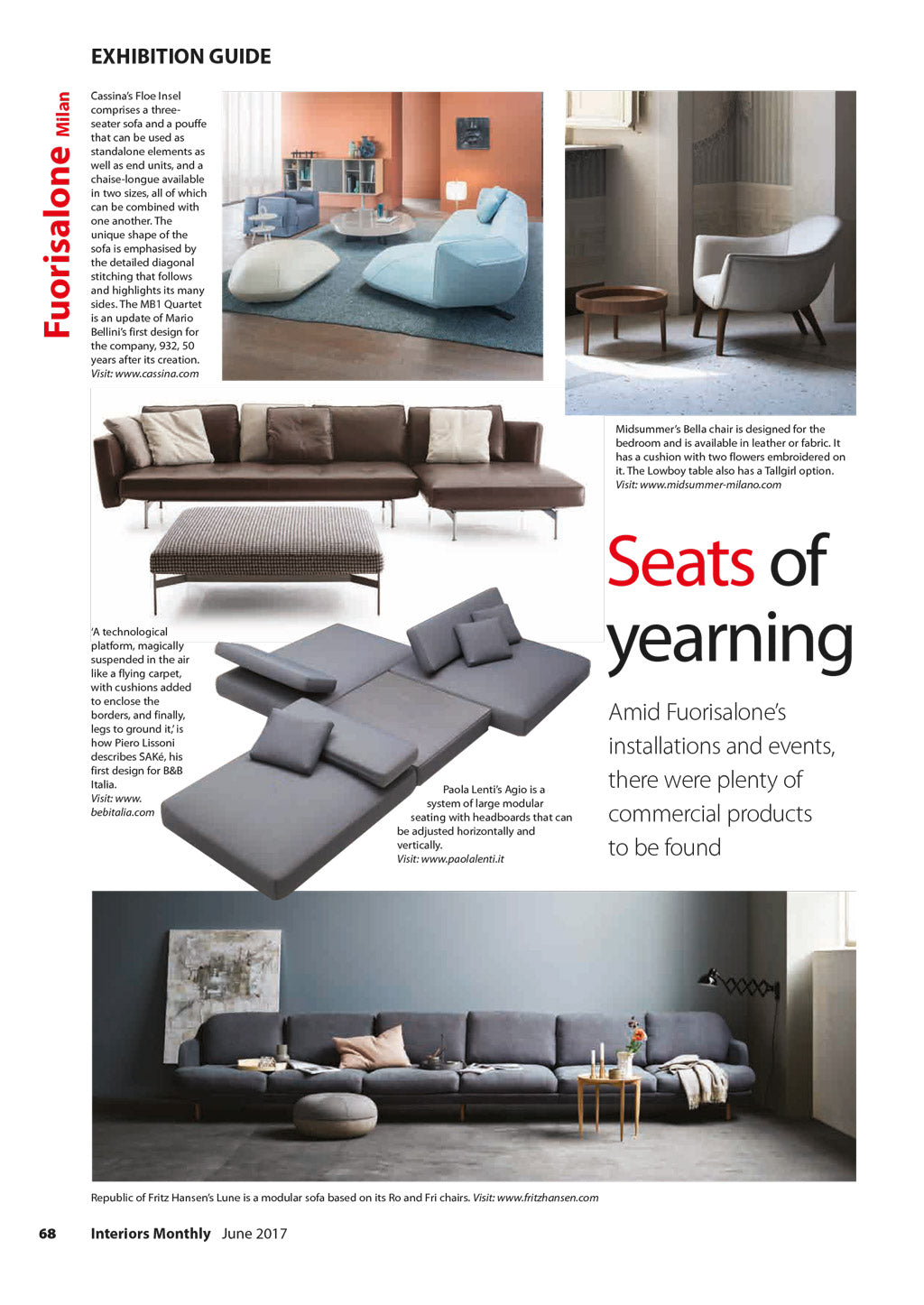 Interiors Monthly, midsummer-milano