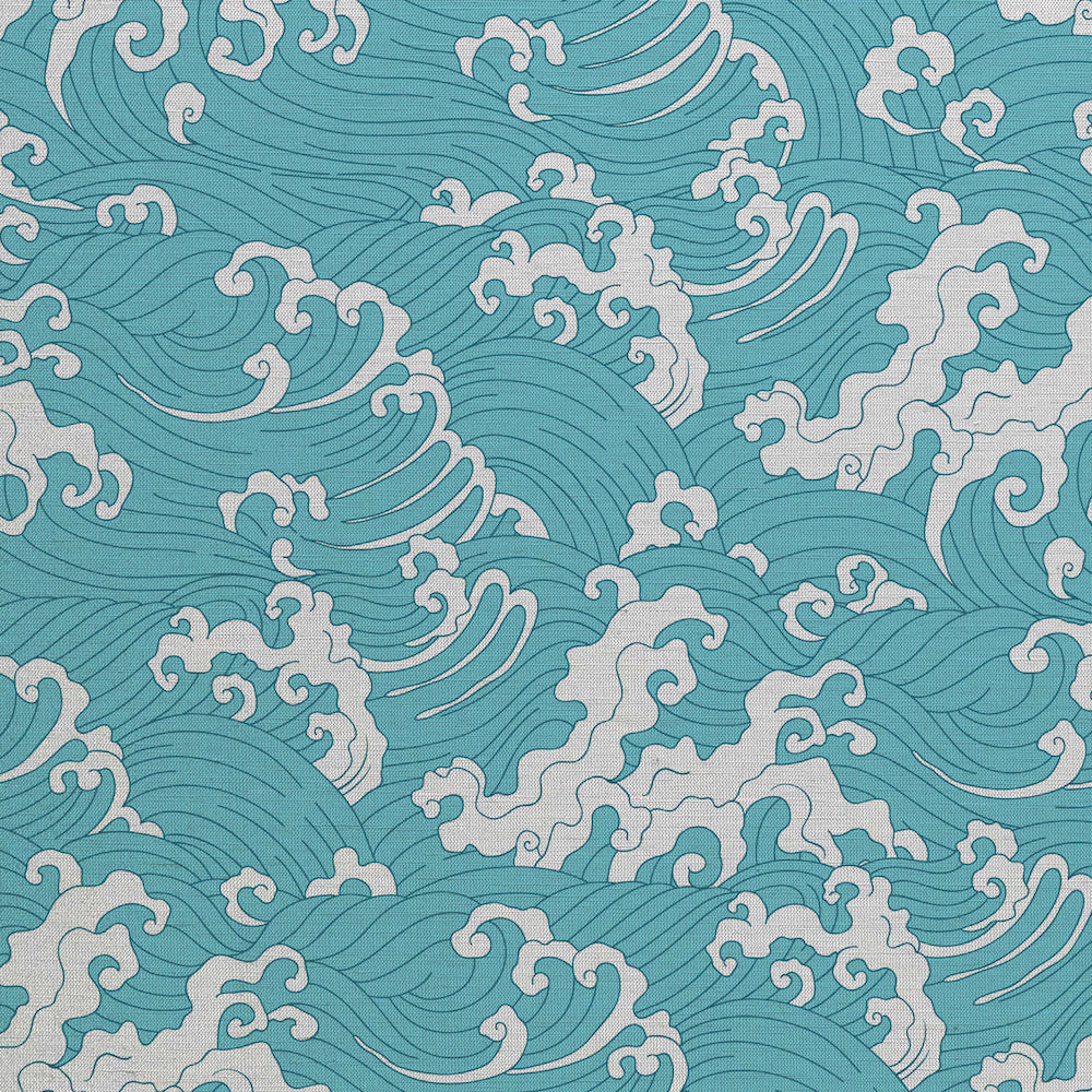 Waves pattern wall covering. Silk. Made in italy