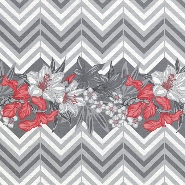 Flowers and Chevron
