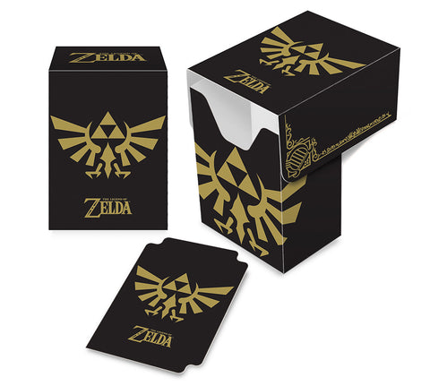 Zelda Deck Box - Black with Gold Crest
