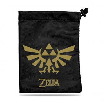 Zelda Dice/Accessory Bag with Gold Crest