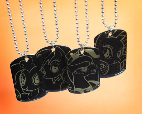 MLP Gold Dog Tags From Series 1 Collection