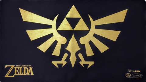 Zelda Playmat - Black with Gold Foil Crest