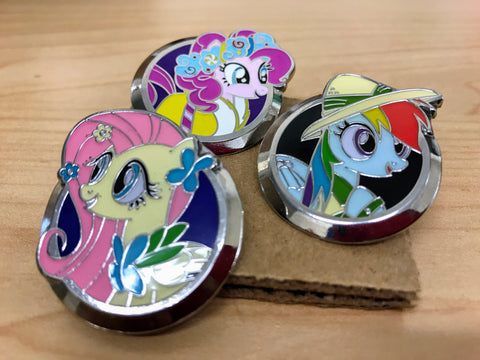 MLP Pin Bundle With 3 Packs of Cards and Discord Foil